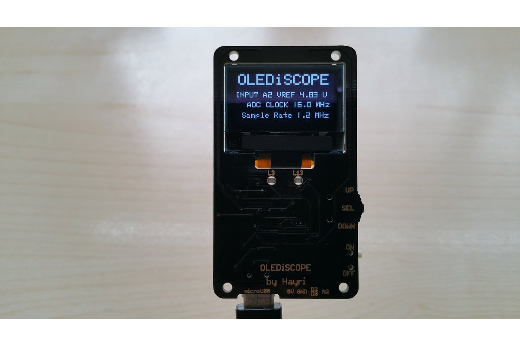 OLEDiSCOPE an Oscilloscope for your pocket 1