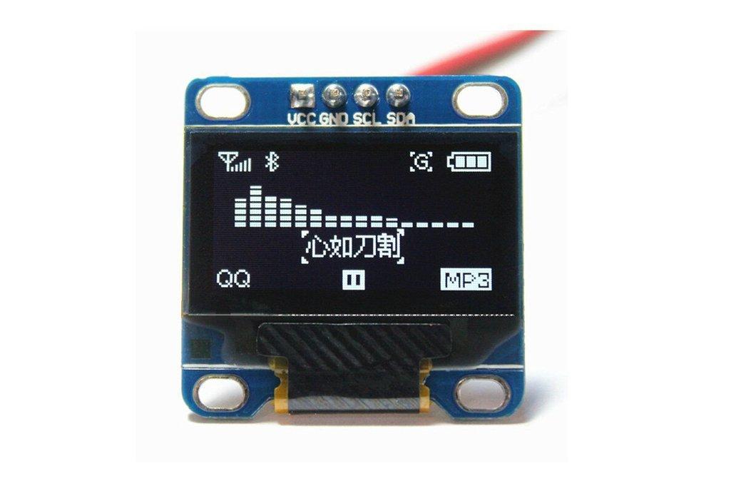 """0.96"""" OLED Display Module - White 1"""
