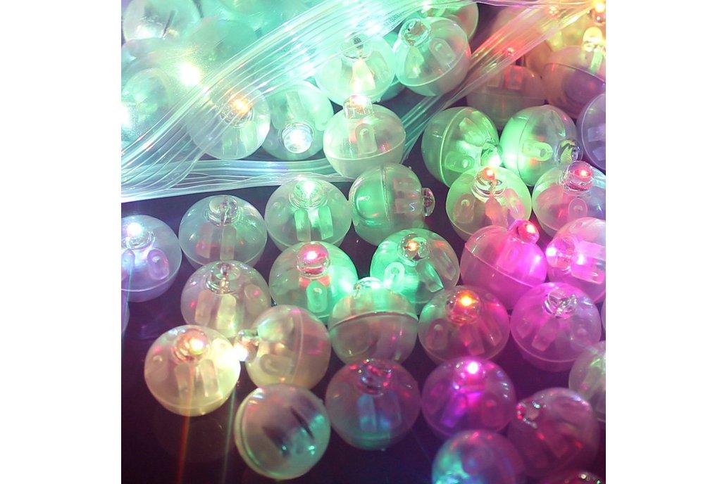 50 Pcs Led  Flash Ball 10