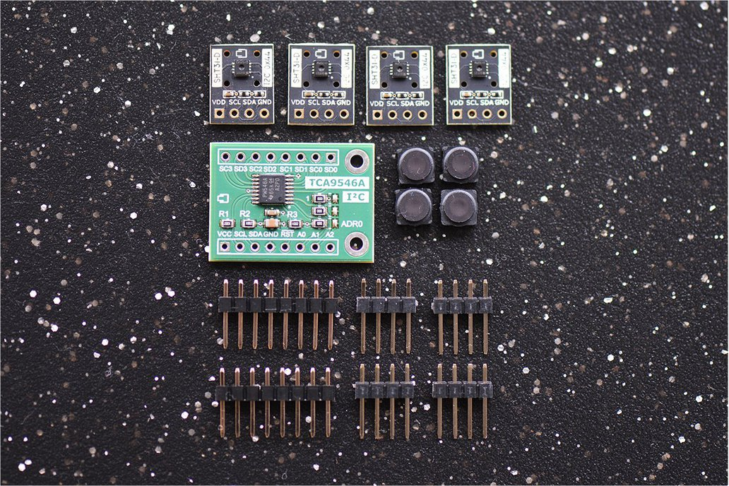 4x SHT31-D with Filter Cap and I2C Switch Bundle 1