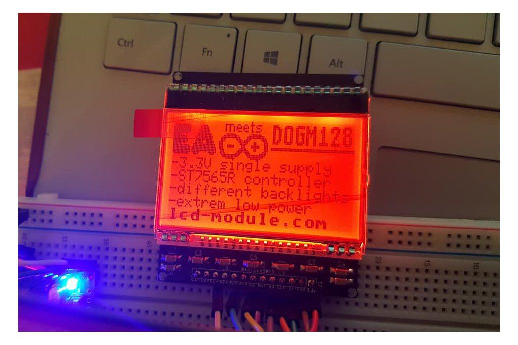 AE DOGM-128 Display holder, breadboard compatible 6