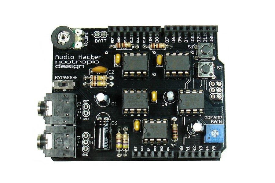 Audio Hacker Shield - Assembled
