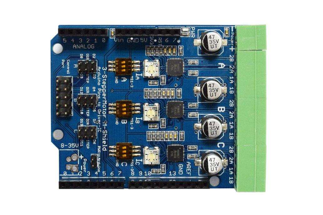 Stepper Motor Driver Arduino Shield V1.0 3xA4988 1