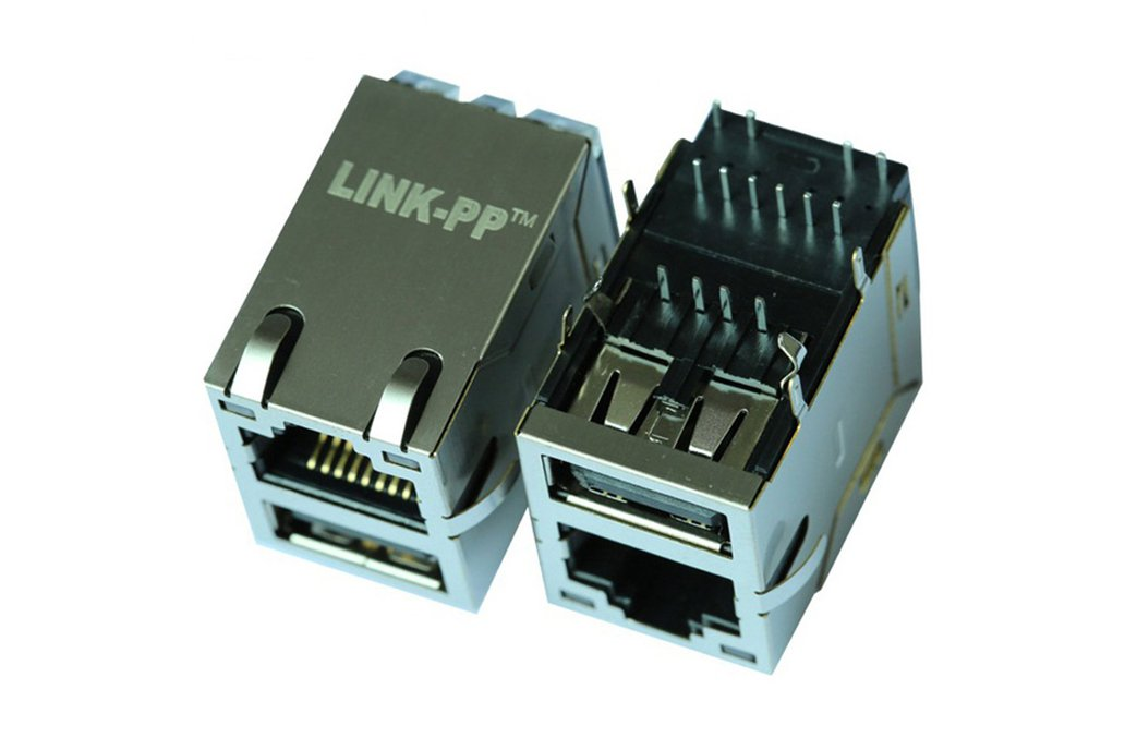 0821-1X1T-36-F Single USB With RJ45 Connector 1