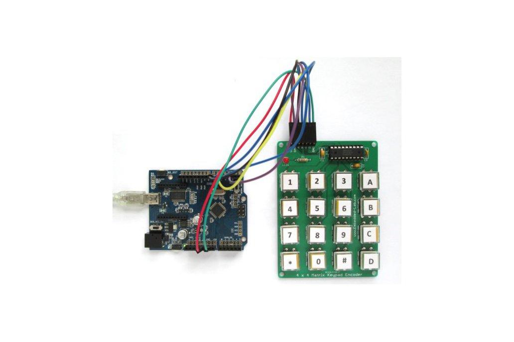 Encoded matrix keypad (16-switch) 2