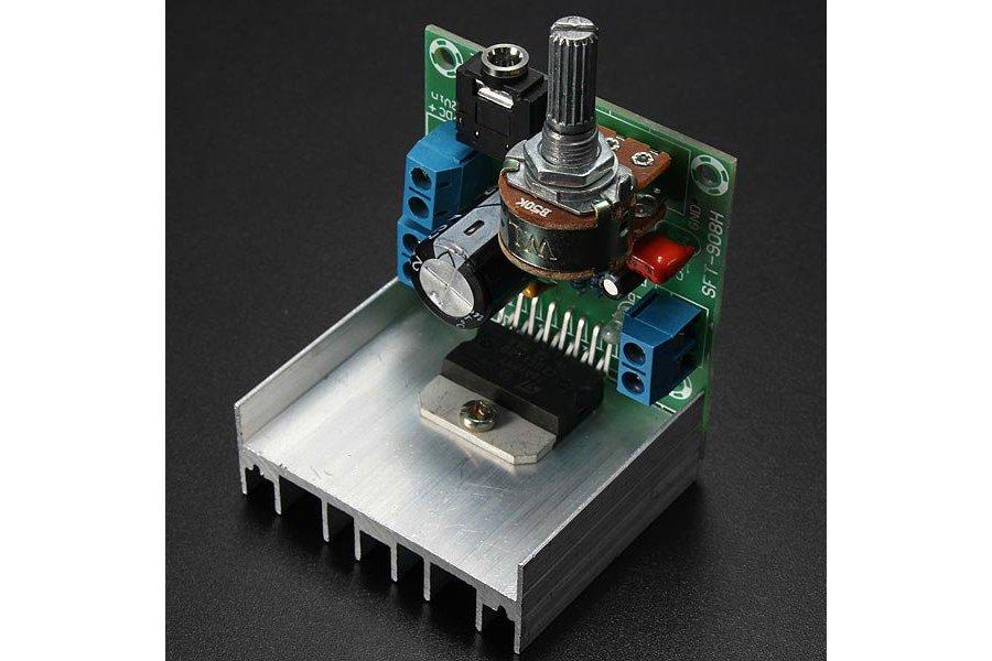 AC/DC 12V 2 x 15W TDA7297 Version B Digital Audio Amplifier Board Dual-Channel