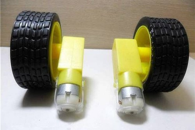 DC Gear Reduction Motor Single Shaft TT Motor With Tyre(4 pcs/pack)