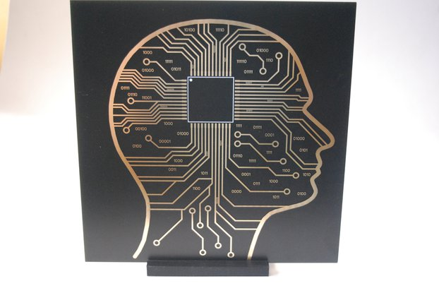 Micro Chip Brain / Black Hole PCB art