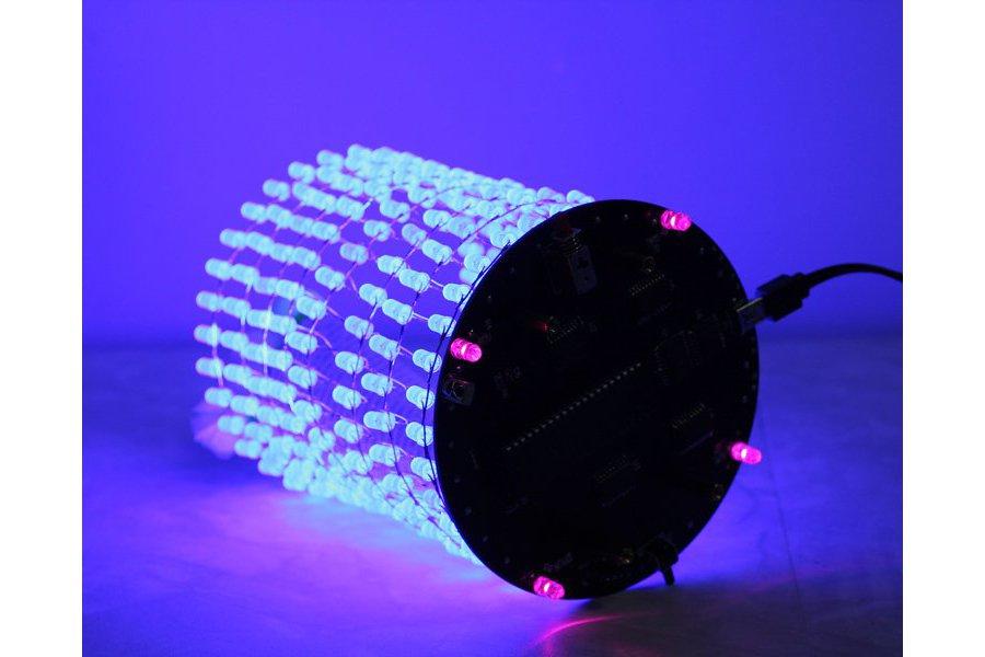 Blue 3D Light Cube w/ Music Spectrum(12542)