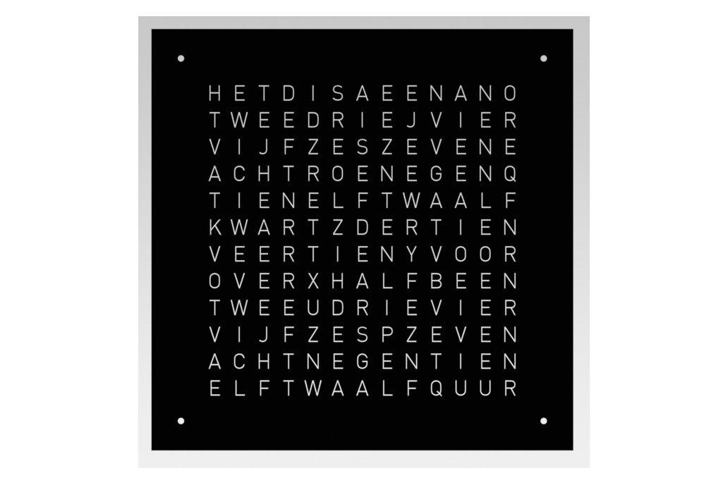 Wordclock - Frontpanel - 40x40cm 2