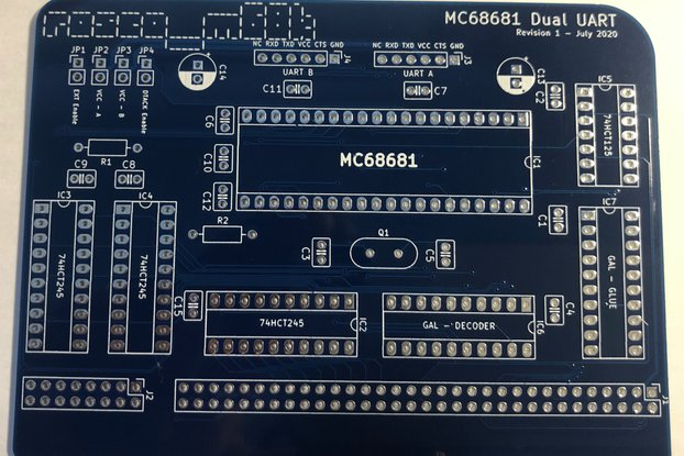 MC68681 Dual UART Expansion for rosco_m68k
