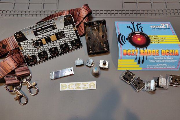 DCZia Laser Theremin complete badge kit