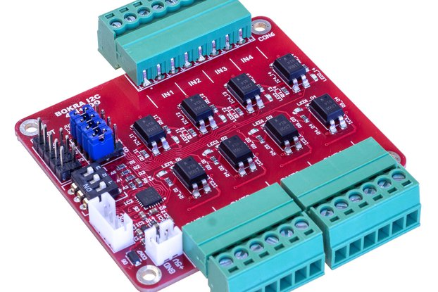I2C 4DI + 4DO isolated module