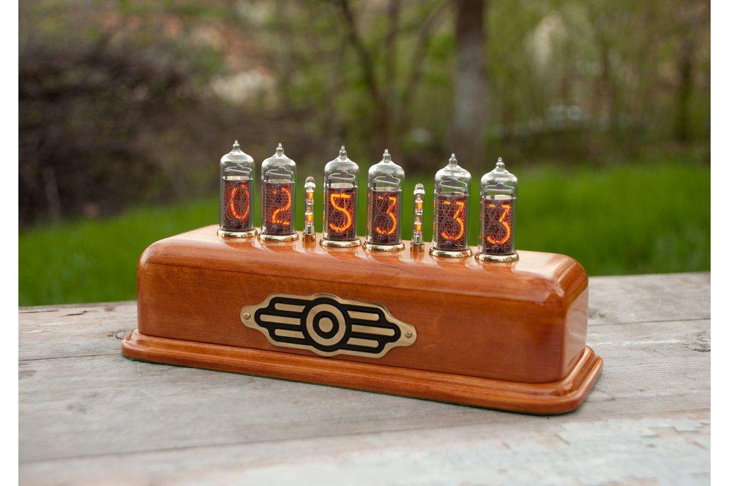 Vintage style Nixie Clock  on IN-14 nixies  1