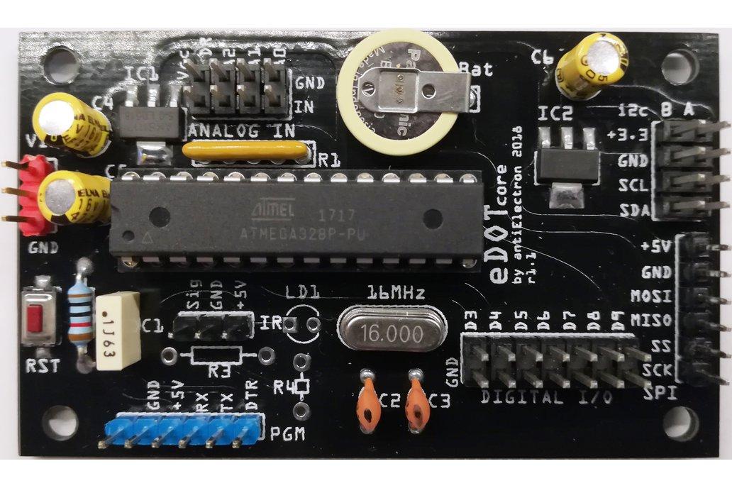 eDOTcore R. 1.1 - Arduino UNO compatible RTC board 1