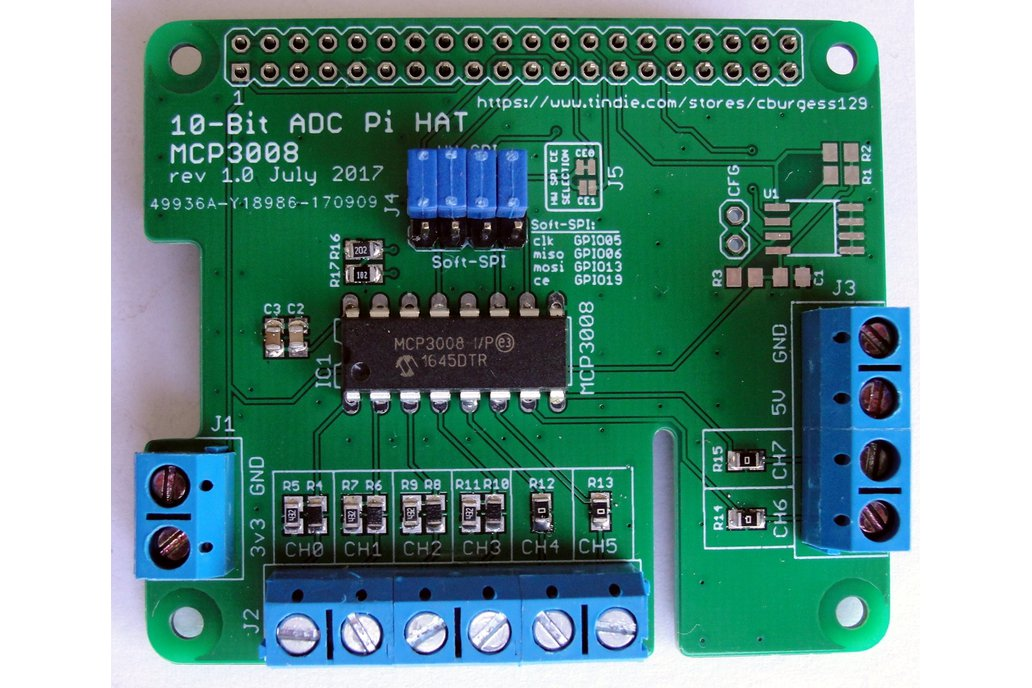 10-Bit ADC PI Hat (Old-Style VMS) 1