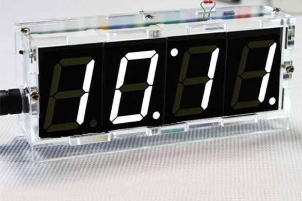 DIY 4 Digit LED Clock and thermometer