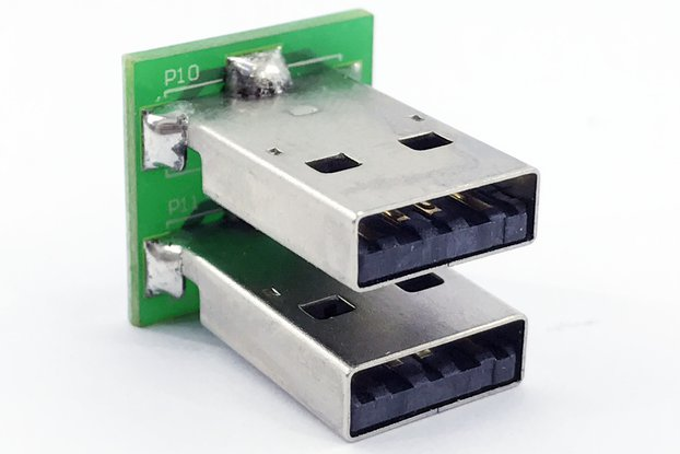 Dual USB male header plug breakout (FFC socket)