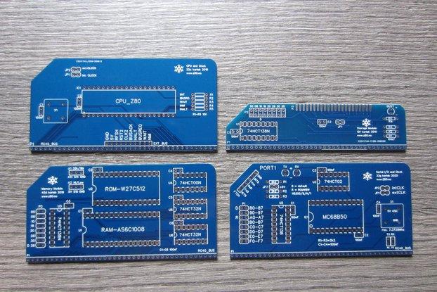 PCBs for a Basic Modular 8-bit Computer (4 PCBs)