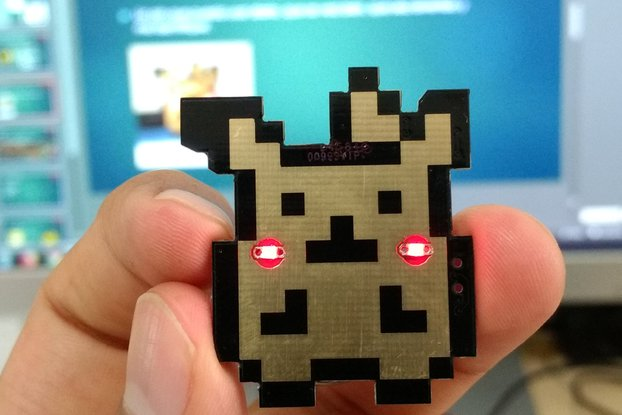 Pika pin badge