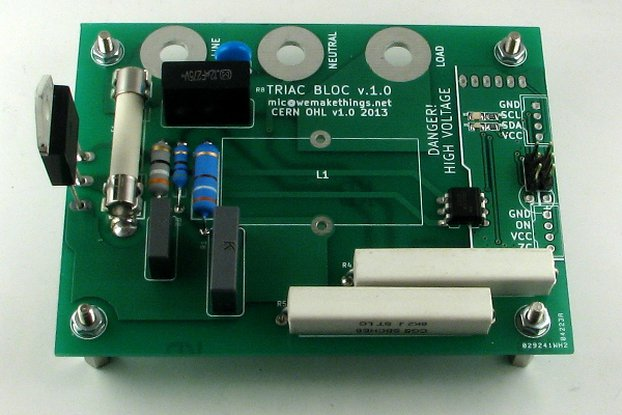 TRIAC BLOC - I2C Mains voltage controller