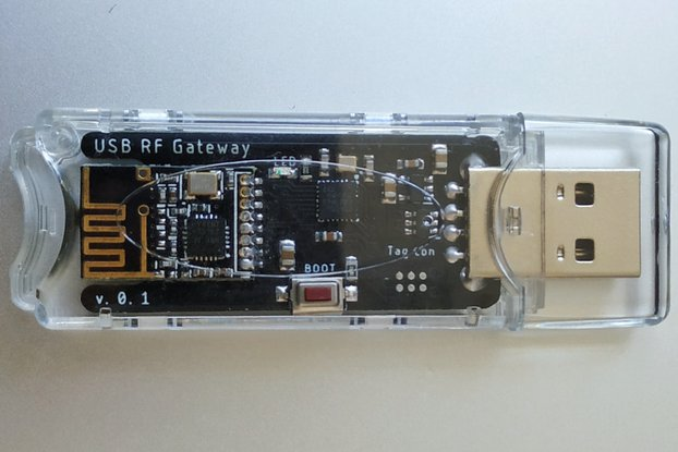 USB RF Gateway with STM32 and NRF24 in case