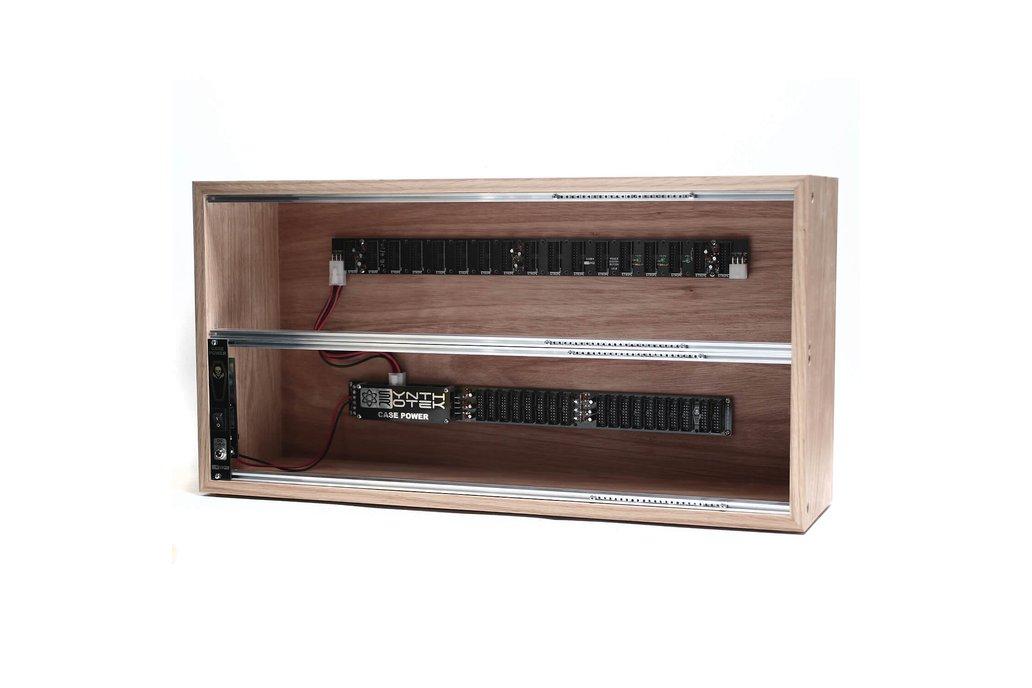 6U 104HP Powered Plywood Eurorack Modular Case 1