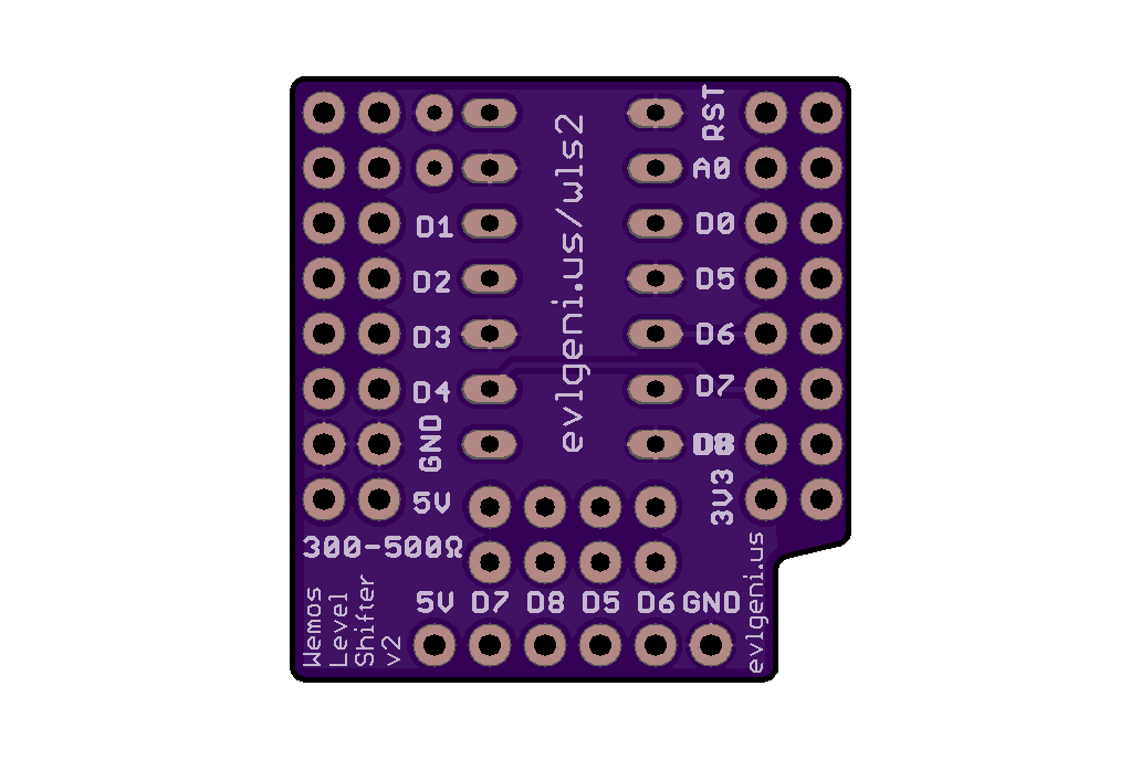 Wemos D1 Mini ESP8266 Level Shifter Mini Shield 9
