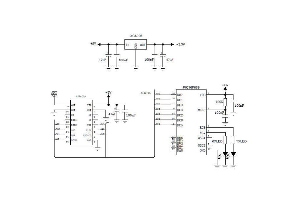 Lora1276F30 500mW 6-8km  868MHz /915MHz  RF module 4