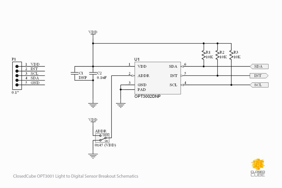 OPT3002 Light to Digital Sensor