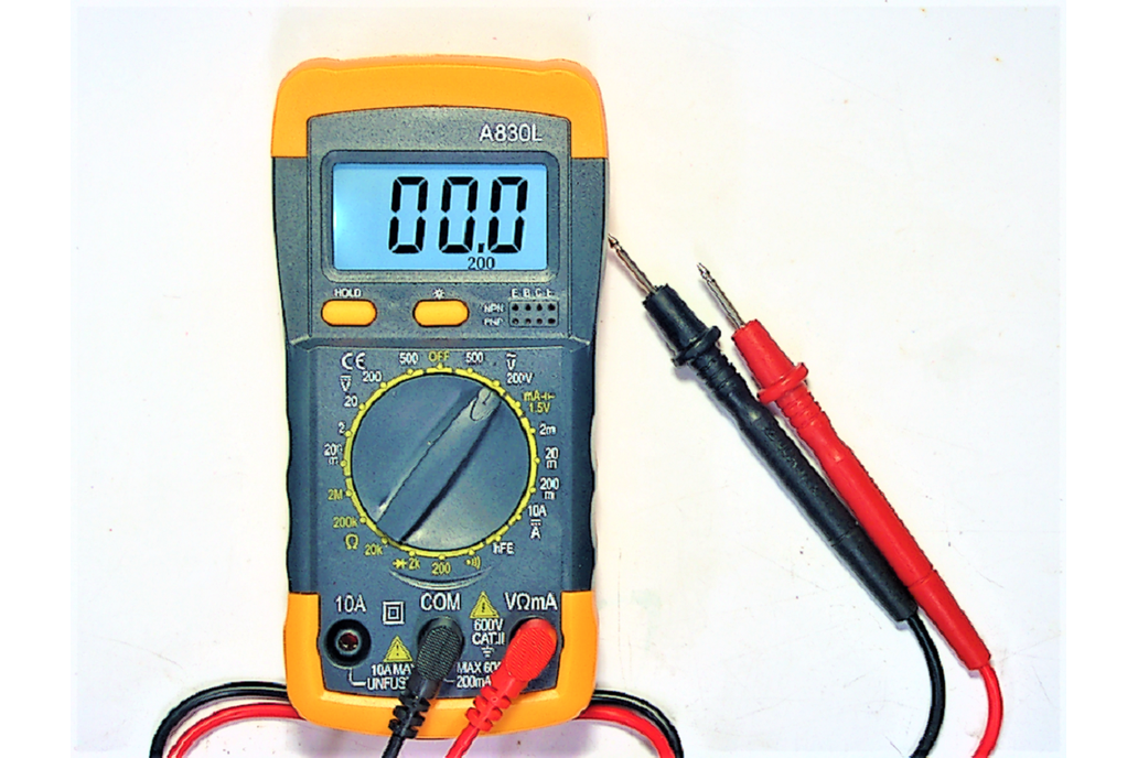 Multi-Meter with Light and Continuity Tester 1