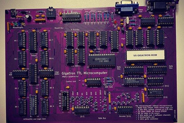 FULL KIT! GIGATRON 8 BIT HOMEBREW COMPUTER KIT