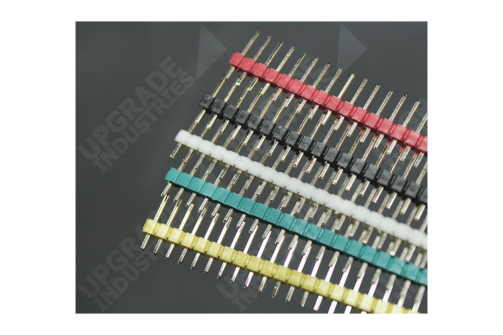 40 Pin Male Header - Red Green White Yellow Black 1