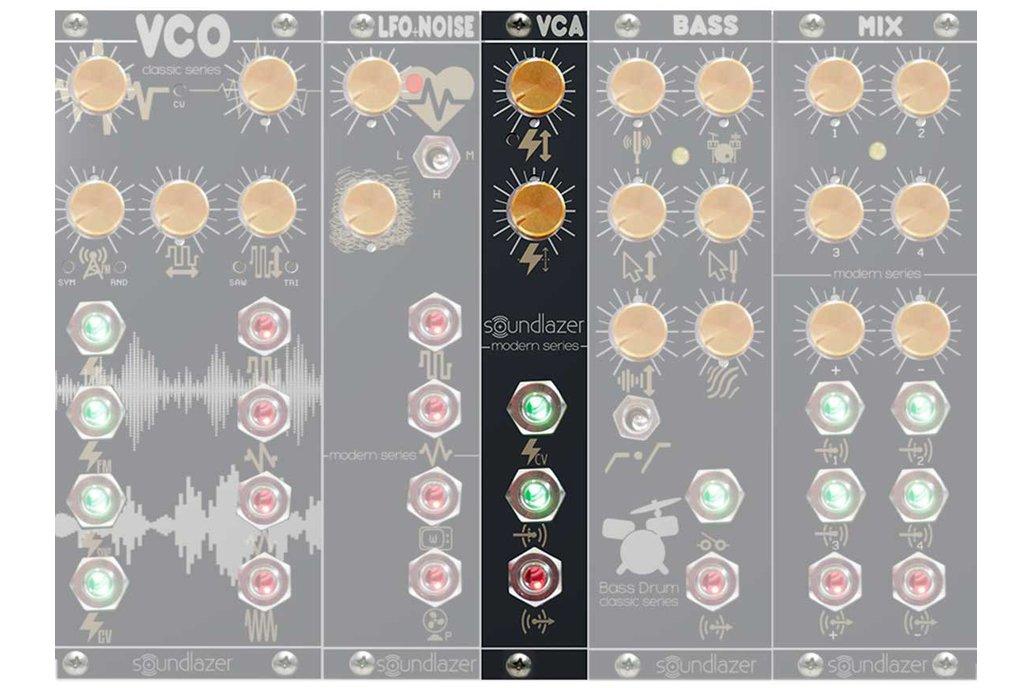 Voltage Controlled Amplifier Eurorack Module - VCA 1
