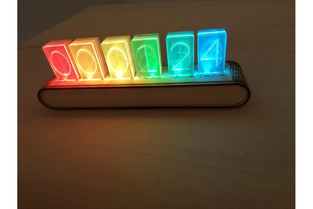 NIXT CLOCK - RGB WiFi Acrylic Nixie Kit esp8266 3