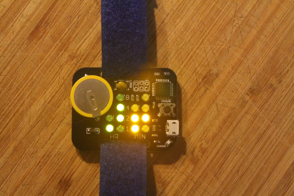 Simple Rechargeable Binary Watch 5
