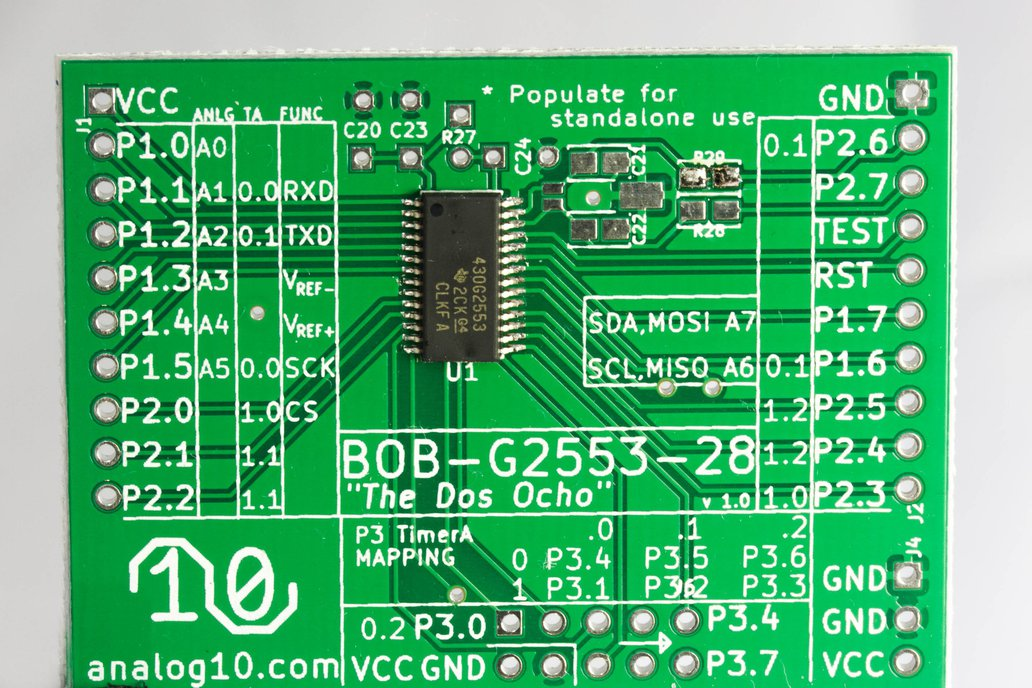 Dos Ocho: 28 Pin Launchpad Style Board 1