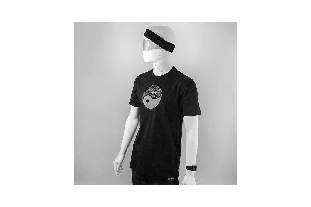 YIN YANG TECH - Mens Fitted Graphic T-shirt 3