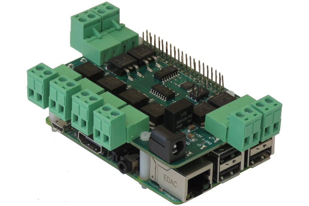 8-MOSFETS Stackable Card for Raspberry Pi 1