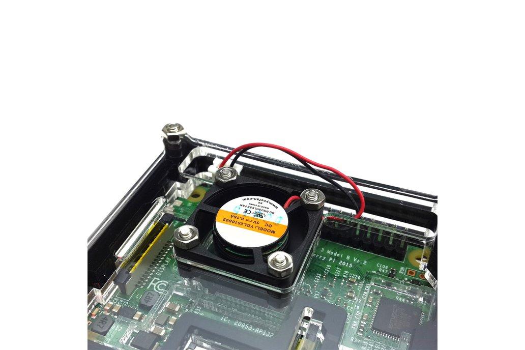 Raspberry Pi 3  Acrylic Case With Fan 5