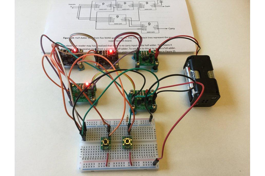 Half-Adder Built from Transistor/NAND Gates 1
