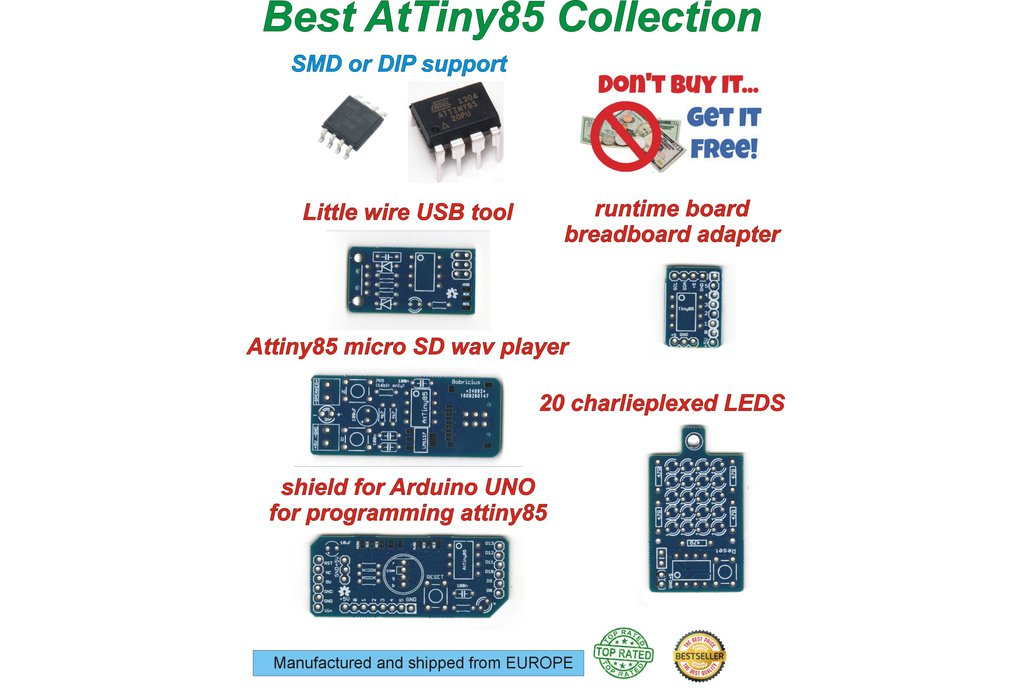 Best PCB collection for begin with AtTiny85 2