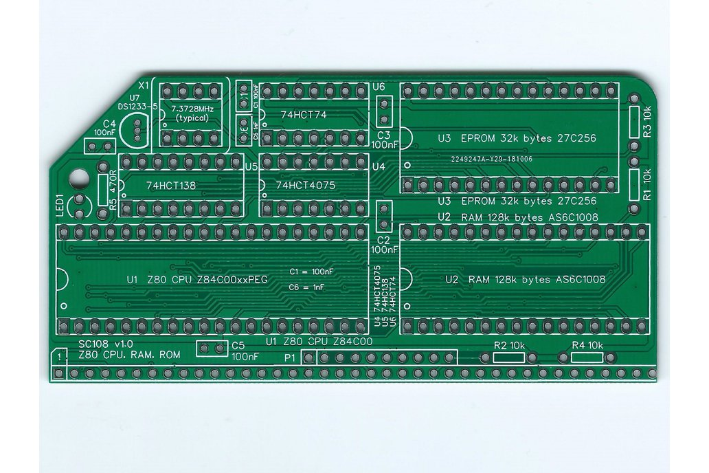 SC108 Z80 CPU, RAM & ROM Board for RC2014 1