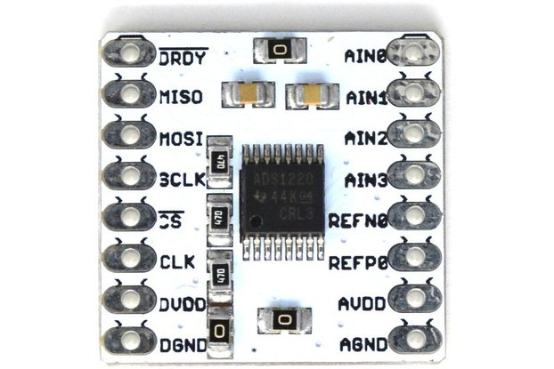 ADS1220 24-bit, 4-channel Low noise breakout board