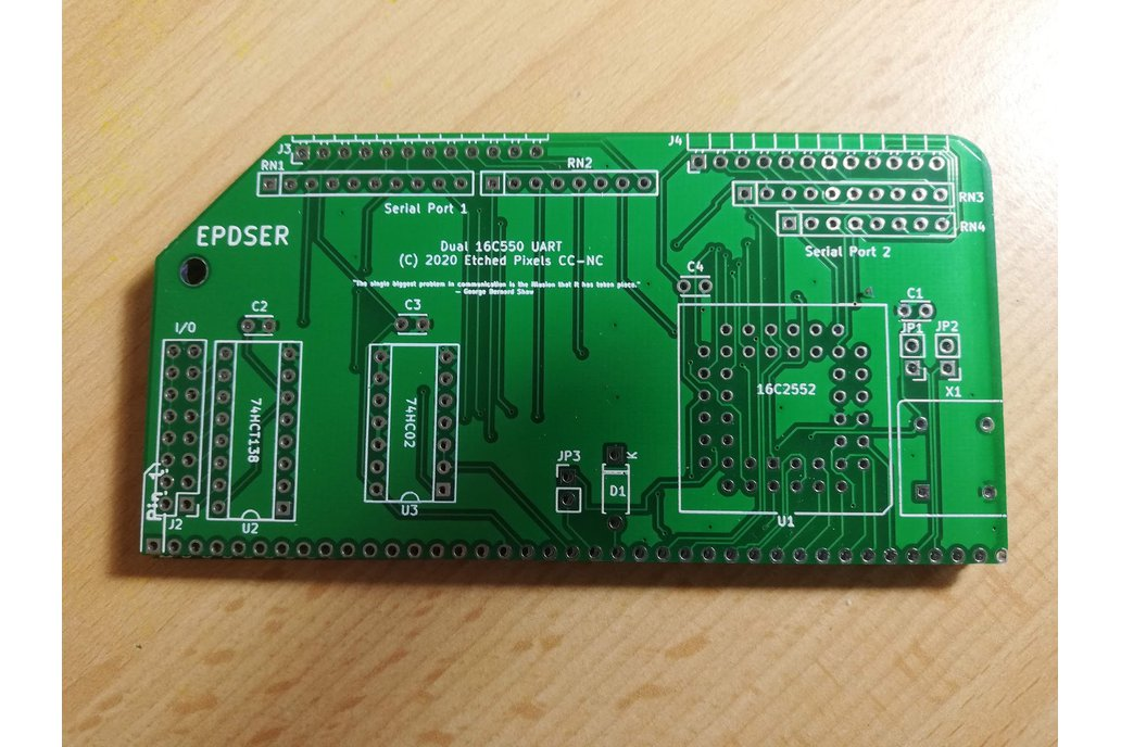 16C2552 dual UART for RC2014™ PCB only 1