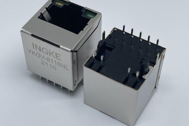 JXD2-0015NL Gigabit Vertical RJ45 Connector