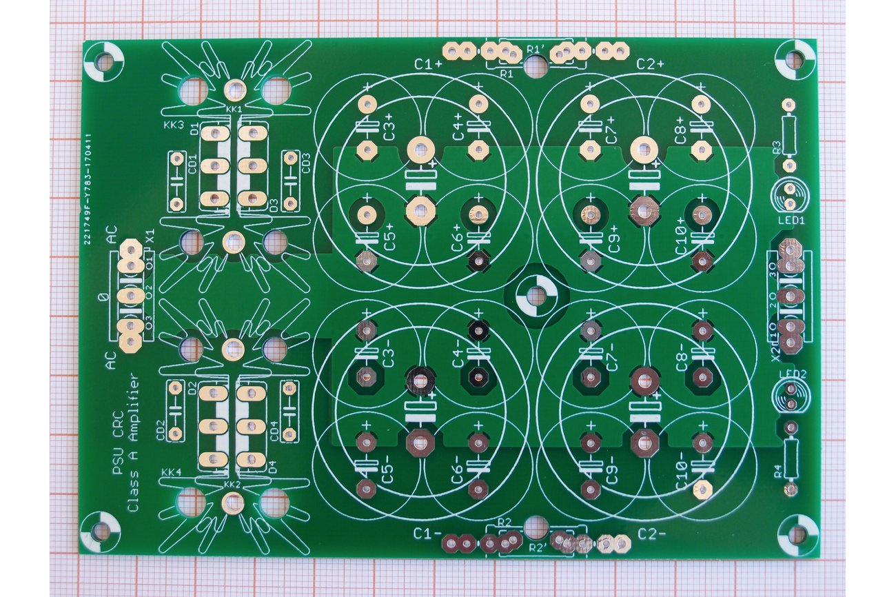 PCB CRC Power Supply for Class A Amplifiers