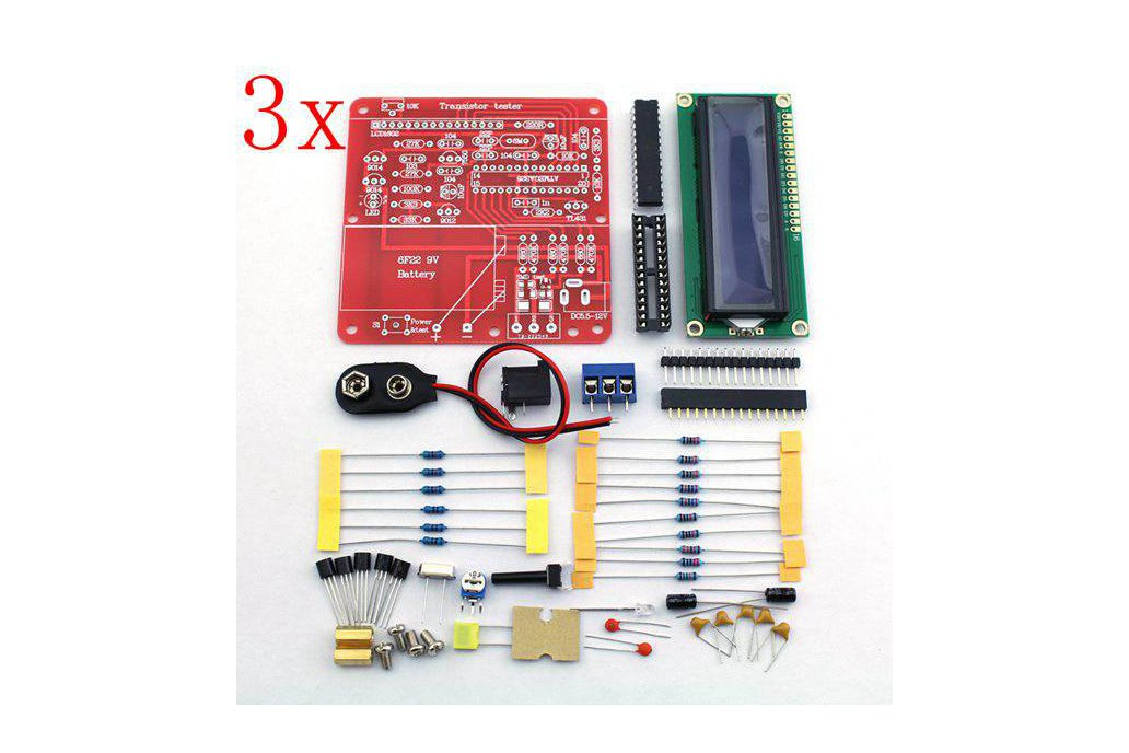3 pc DIY Multi-function Transistor Tester Kit 1