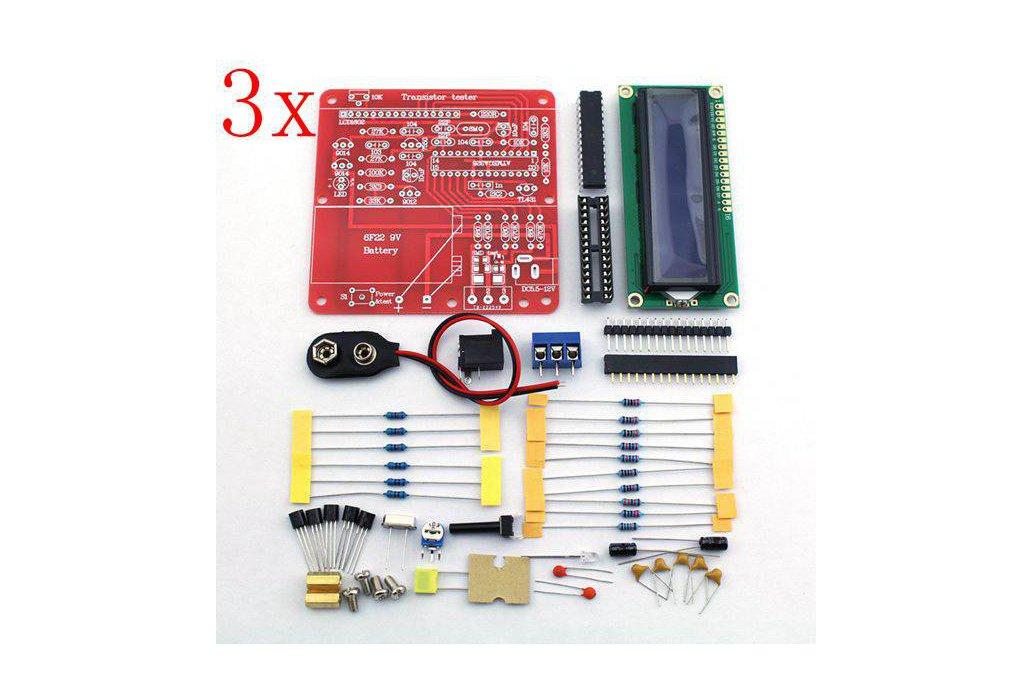 3 pc DIY Multi-function Transistor Tester Kit 1