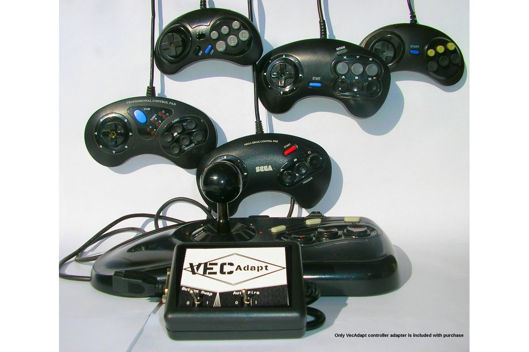 VecAdapt: Vectrex to Sega Controller Adapter 1